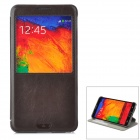 KALAIDENG Protective Flip Open Case w/ Stand / Display Window for Samsung Galaxy Note 3 N9000 - Puce