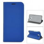 PUDINI Stylish Flip-open PU Leather Case w/ Holder for Motorola Moto X Phone - Blue