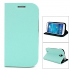 GTcoupe S-027 Seamless Protective Flip-Open PU Leather Case for Samsung Galaxy S4 / i9500 - Blue