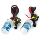 H3 35W 3200lm 6000K Blue White Car HID Headlamps - Black + Transparent (2 PCS)