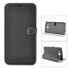 HELLO DEERE Stylish Flip-open PU Leather Case w/ Holder + Card Slot for Samsung 9152