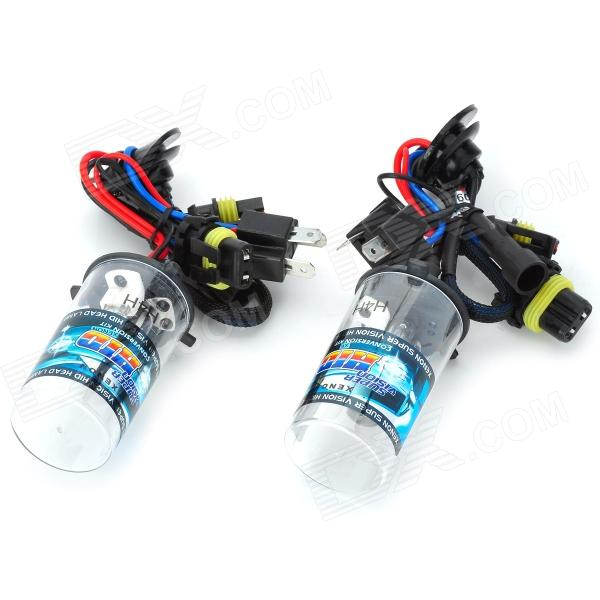 H4H 35W 3200lm 6000K Blue White Car HID Headlamps - Black + Transparent (2 PCS) - DXHID Xenon Kits<br>Brand NO Quantity 1 piece(s) Color Black + transparent Material Plastic + iron + aluminium alloy Type HID Kit Set Compatible Car Model Universal Output Power 35 W Color Temperature 6000 K Light Color Blue white Life Span 3000~5000 hour Luminous Flux 3200 LM Socket Type H4H Input Voltage 8~32 V Working Voltage 13.2 V Working Current 3.4 A Startup Current 5.8 A Power 35W +/-0.5 W Operating Temperature 40~105 centigrade Packing List 2 x HID (35cm-cable) 2 x HID ballast (5cm / 30cm cable) 1 x Pack of screws 1 x English user manual<br>