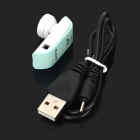 Universal Mini Bluetooth V2.1 + EDR Headset w/ Microphone for Cellphones - Green + White