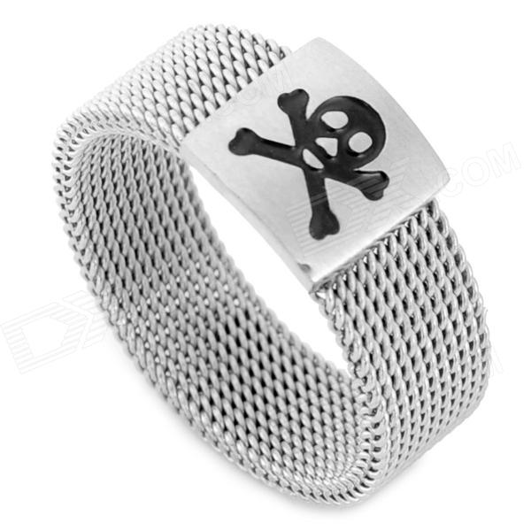 SHIYING jz150 Men's Skull Pattern 316L Stainless Steel Ring - Silver + Black бумага herlitz 20х28 10 листов 10 цветов для поделок