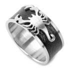 SHIYING jz047 Men's Scorpion Pattern 316L Stainless Steel Ring - Black