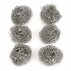 Stainless Steel Wire Dish Cleaning Ball Scrubbers (6 PCS)