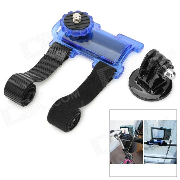 Portable Bicycle Plastic + Aluminum Alloy Holder + Mount for Digital Cameras / DSLR + More - Blue ylg0102h dslr shoulder mount support rig double hand handgrip holder set for all video cameras and dv camcorders