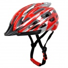 KUYOU KY-003 Bike Bicycle Cycling PC + EPS Helmet - Red + Silver