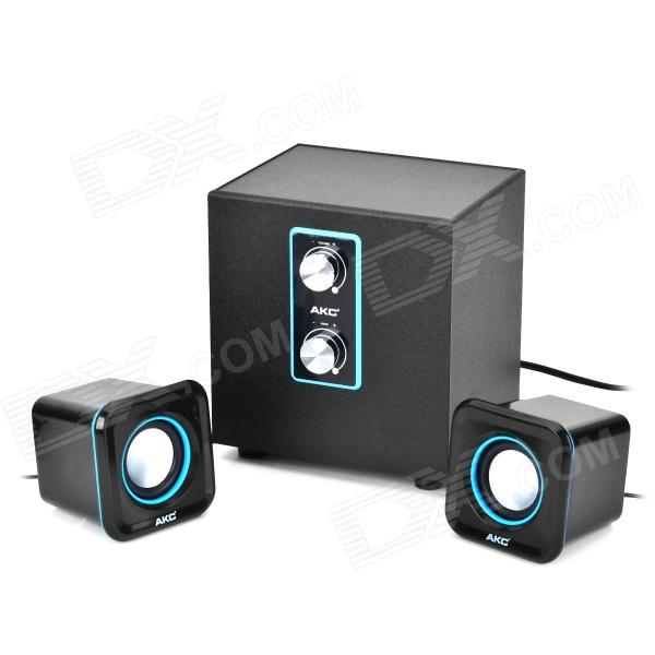 MX-606 2.1 Channel USB Computer Subwoofer w/ Multimedia Speakers - Black