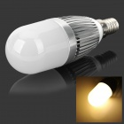 ApolloFlower E14 5W 480lm 3500K 28-2835 Warm White Light Corn Light - Silver + White (AC 100~250V)