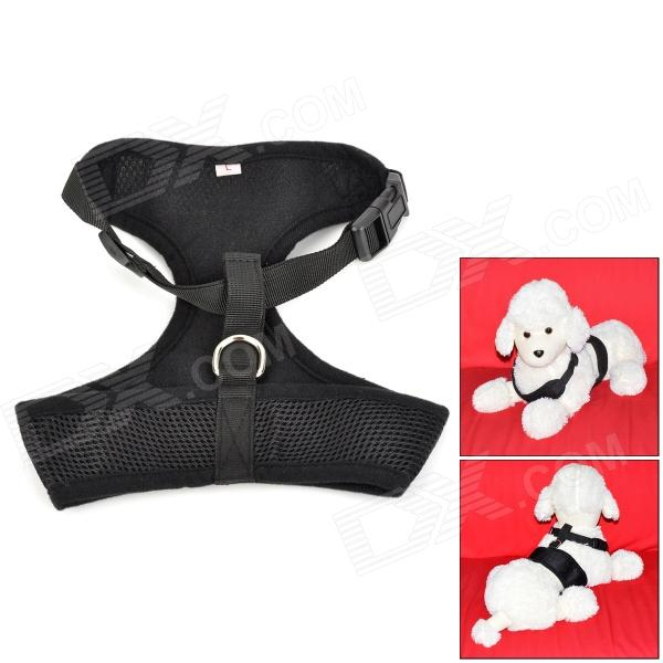 Doglemi DM40050-L Mesh Cloth Pet's Dog Chest Belt - Black (Size L)