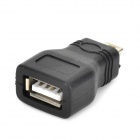 USB Female to Mini USB Male Adapter - Black