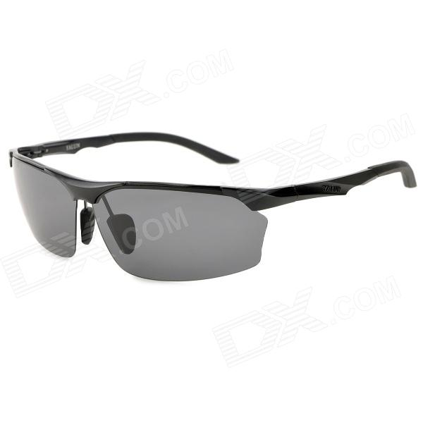 YALUN 1412 Sports UV400 Protection Polarized Resin Lens Sunglasses for Men - Black hong teng new arrivals high quality lens polarized sunglasses fashion men colorful glasses alloy frame with box