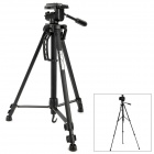 "WT-3530 Portable Aluminum Alloy 1/4"" Retractable 3-Section Tripod for Digital Camera - Black"