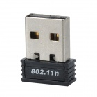 Mini USB 2.0 150Mbps IEEE802.11b/g/n Wireless Wi-Fi Network Adapter - Black