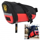 Convenient Water Resistant Oxford Fabric Saddle Bag for Bicycle - Red + Black