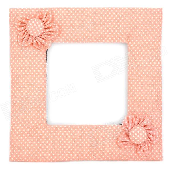 Flower Pattern White Dot Switch Dustproof Cover - Pink