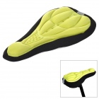 NUCKILY Bicycle 3D Breathable Saddle Cover w/ Fixing Rope - Black + Yellow