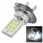 QCD-10 H7 6W 300lm 6500K 12-SMD 3528 LED White Car Foglight (12V)