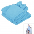 LX-9009 Cozy Fiber Bath Towel + Shower Cap - Blue