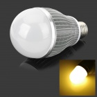 E27 9W 800lm 3200K 9-LED Warm White Light Lamp - Silver + White (90~260V)