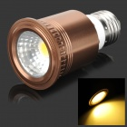 UltraFire E27 7W 400lm 3200K 1-COB Warm White Light Spotlight - Brown + Silver + White (85~265V)