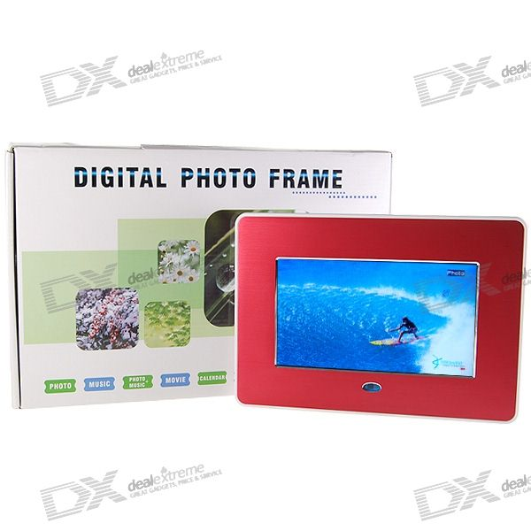 7 Wide Screen TFT LCD SD/MMC/MS/USB Digital Photo Frame and Video Player (480*234px) 9 inch car headrest mount dvd player digital multimedia player hdmi 800 x 480 lcd screen audio video usb speaker remote control