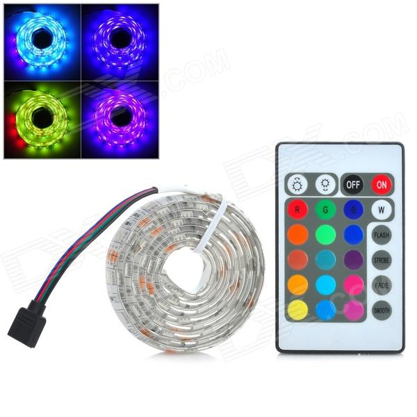 Waterproof 12W 200lm 60-SMD 5050 LED RGB Car Decoration Light Strip w/ Controller (12V / 1m)