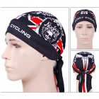 NUCKILY Fashionable Patterned Dacron Turban Hood - Black + White + Red