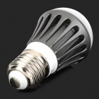 E27 3W 90LM 3500K Warm White 5730 LED Light Bulb - Deep Grey + Silver