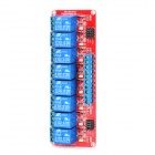3-in-1 9V 8-CH Relay Module w/ Coupler - Red + Blue