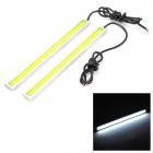 7W 65lm 6000K 80-COB LED White Waterproof Car Daytime Running Lights (12V / 2 PCS)
