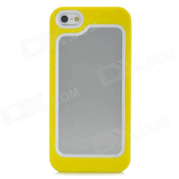 Protective Plastic + TPU Bumper Frame for Iphone 5 - Yellow + White protective plastic bumper frame for iphone 6 4 7 yellow