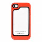 Protective Plastic + TPU Bumper Frame for Iphone 4 / 4S - Red + Black