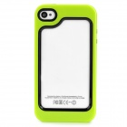 Protective Plastic + TPU Bumper Frame for Iphone 4 / 4S - Green + Black