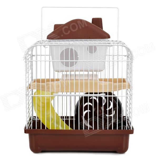 M004A Cute Lovely 2-floor Pet House w/ Slide / Runner /  Waterer for Hamster - Multicolored
