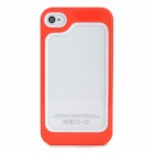 Protective Plastic + TPU Bumper Frame for Iphone 4 / 4S - Red + White