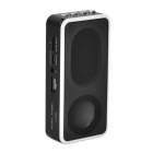 MD09 Portable MP3 Speaker w/ FM Radio / TF - Black + White