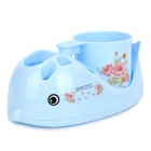 LX7501 Cartoon Whale Style Toothbrush / Cup Holder - Light Blue
