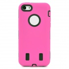 3-in-1 Cool Protective Silicone + PC Case for Iphone 5C - Deep Pink