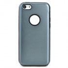 Protective Aluminum + Silicone Back Case for Iphone 5C - Grey + Black