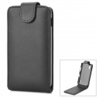 Protective Top Flip Open PU Leather Case for LG Nexus 4 E960 - Black