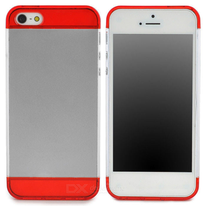 S-What Protective PC Back Case for Iphone 5 / 5s - Red + White elegance tpu pc hybrid back case with kickstand for iphone 7 plus 5 5 inch red