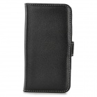 Protective PU Leather Case w/ Card Holder Slots for Iphone 5S - Black