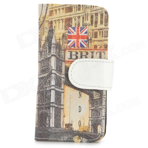London Bridge Pattern PU Leather + PC Case for Iphone 5 / 5s - Multicolored viruses cell transformation and cancer 5