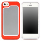 Fashionable Plastic + TPU Bumper Frame Case for Iphone 5 - Red + White