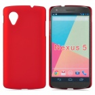 Protective Plastic Back Case for LG NEXUS 5/E980 - Red