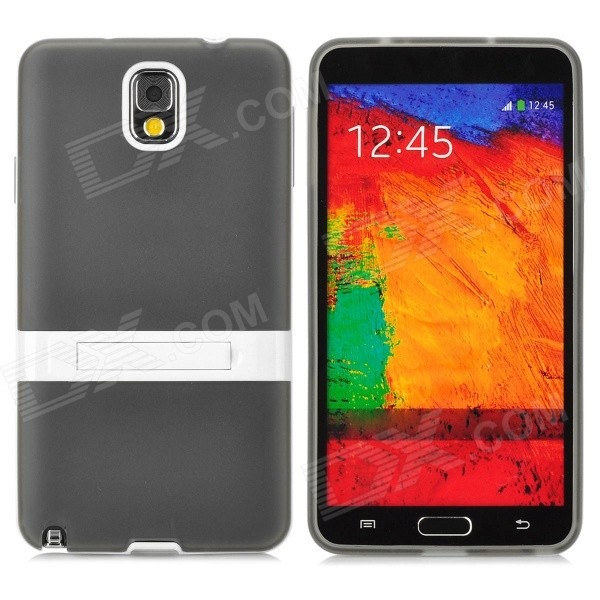 Protective TPU Back Case w/ Stand for Samsung Galaxy Note3 / N9000 + More - Traslucent Black 10x zoom telescope lens with tripod