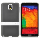 Protective TPU Back Case w/ Stand for Samsung Galaxy Note3 / N9000 + More - Traslucent Black