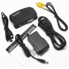Convertidor AV a VGA / s-video a VGA - negro (enchufes estadounidenses / 100 ~ 240V)